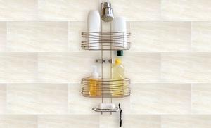 Bathsense chrome curves 3 tier shower caddy groupon for 88 kirkland salon