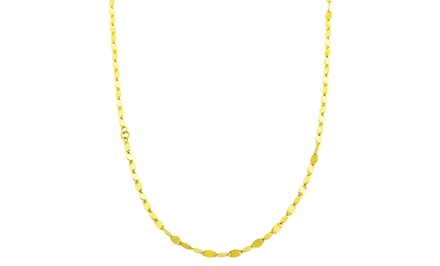 Women's 14K Gold Mirror Link Chain Necklace