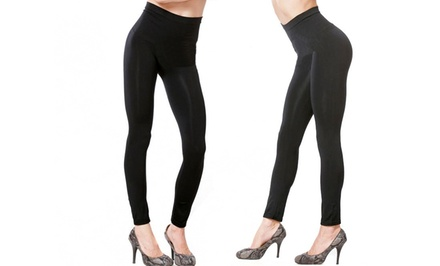 BeautyKo High-Waist Shapewear Leggings with Slimming Compression