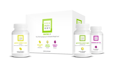 Trim Trio Kit for Weight Loss with 60-Day Supply of Garcinia Cambogia, Green Coffee Bean Extract, and Raspberry Ketones
