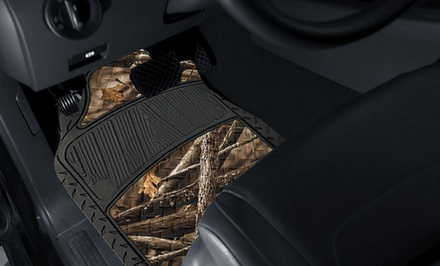 4-Piece Trimmable Camouflage Car Floor Mats
