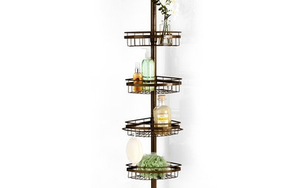 Ultimate Four-Tier Stainless-Steel Shower Caddy