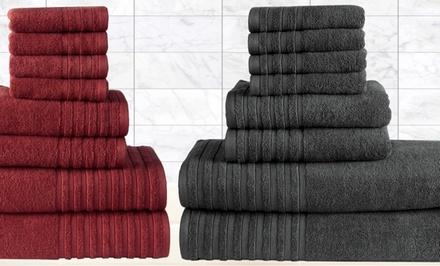 Casa Platino 8-Piece Egyptian-Cotton 600GSM Towel Set