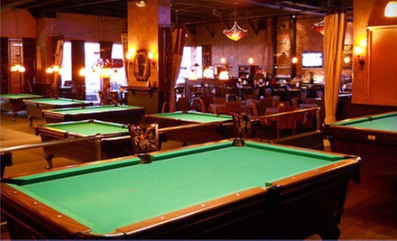 $17 for 90-Minutes of Pool and Two Appetizers  at The Big Kahuna