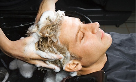 $14 for a Men&#x27;s Signature Cut with Hot-Towel Treatment at For Him Mens Salon