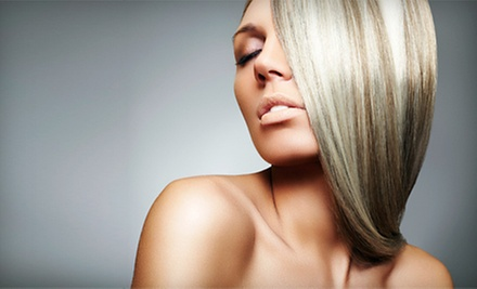 $72 for a Partial Foil Highlight, Cut and Style at Salon Sabrina Watertown