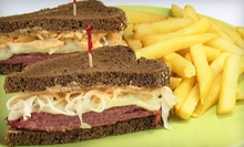 $6 for a Small Corned Beef Sandwich, Fries and Can of Soda  at Stella's Sandwich Shop