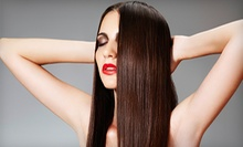 $87 for Partial Highlight w/Gloss and Blowdry Style at Strands and Trends