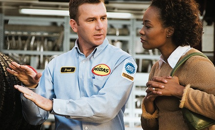$34 for an Oil Change, Tire Rotation, and Inspection (an $84.97 Val) at Midas San Rafael