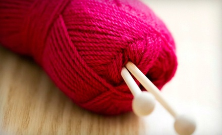 $6 for a Basic Knitting Stitches Class at 2 p.m. at The Knitting Circle