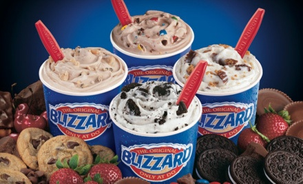 $5 for Two Medium Blizzards at Dairy Queen / Orange Julius