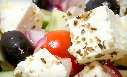 $15 for 2 Salads and a Bottle of Wine at Opa Cafe and Market