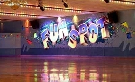 $11 for Admission and Skate Rental for 2  at Fun Spot Skating Center