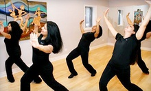 $7 for a Dancefit Core Class at 9:30 a.m.  at Rhythmaxdance