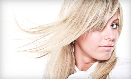$62 for Highlights, Haircut and Blow-Dry Style at House Of Blonde