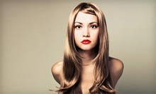 $55 for Highlights or Lowlights with Cut, Style (Up to $110 Value) at Angie at Matisse & Picasso