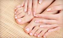 $58 for Shellac French Manicure, Pedicure & Conditioning Treatment at Facials Unlimited Day Spa & Massage