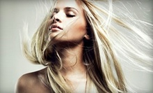 $77 for Partial Foil Highlights, Cut & Style at Heads Up Hair Salon