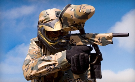 $35 for All Day Paintball Package for Two People at Hot Shots Paintball