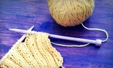 $20 for a Knit and Purl Beginners Class at 3:30pm at The Little Knittery