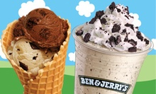 $6 for a Waffle Cone plus 2 Scoops at Ben and Jerry's Denver