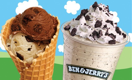 $6 for a Waffle Cone plus 2 Scoops at Ben and Jerry&#x27;s Denver