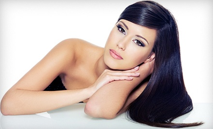 $39 for a Haircut, Style, and MorrocanOil Hair Treatment at Perry George Salon & Spa