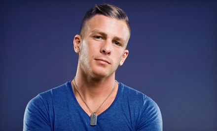 $28 for a Men's Haircut, Scalp Massage, Shampoo, and Glass of Wine at House of Synergy