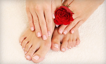 $25 for a Regular Manicure and Pedicure at Vida Spa