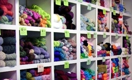 $10 for $20 Worth of Knitting Supplies at Sip & Knit