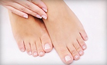 $36 for shellac manicure &amp; basic pedicure at Belleza Spa &amp; Tanning
