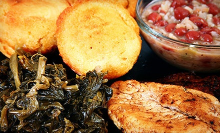 $20 for $40 Worth of Southern Soul Food for Dinner for Two at Nellie&#x27;s Soulfood Restaurant &amp; Bar