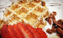 $9 for a Sandwich/Panini, Sugar Waffle &amp; Small Drink (Up to $14) at Grid Iron Waffle Shop