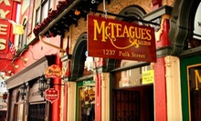 $6 for a Shiner Bock Draft & 1 Shot of Jack Daniels at McTeague's Saloon