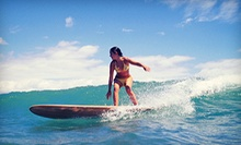 $75 for One Hour Surf Lesson with two hour surfboard rental at Malibu LongBoards Surf School