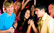 $25 for an Hour of Karaoke for 4 & 4 Mixed Drinks or Cans of Beer at Karaoke Christmas