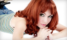 $75 for Cut with Partial Highlight or Color Retouch and Facial Wax at Salon 817