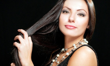 $198 for a Brazilian Keratin Treatment and Manicure at Paradise Salon