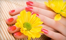 $27 for Rosie Rose Paraffin Manicure+Mask Pedicure+Buff Shine+Wine at Haute Beauty Couture