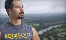 $10 for a Bootcamp Session at 5:30 a.m. at RockBody Boot Camp