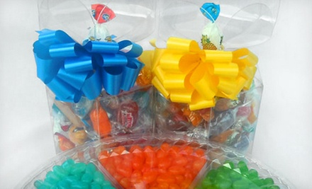 $12 for Two Flower-Top Gift Boxes with Hard Candy at Bulk Candy Store