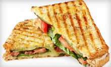 $12 for 2 breakfast sandwiches, or 2 simple sammies with 2 drinks at Sabrina's Lunch In A Box