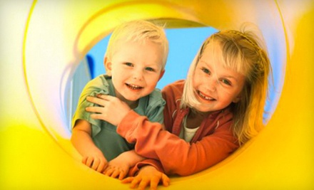 $7 for Child Admission, Pizza Slice &amp; Small Drink (Up to $14 Value) at Monkey Joe&#x27;s Raleigh