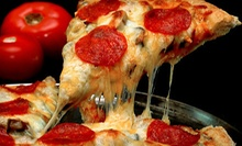 "$15 for 12"" Specialty Pizza, Lg. Salad, & 2 Drinks (Up to $29 Value) at Pepz Pizza & Eatery"