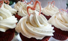 $11 for  Dozen Cupcake Assortment of Vanilla &amp; Vanilla Cocoa Bean at Sweet Bebe Cakes