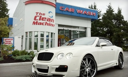 $9 for a Gold Package Car Wash at The Clean Machine Vancouver