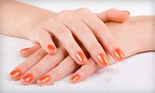 $33 for a Dreamsicle Mani-Pedi at Lace Nail Lab