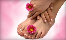 $42 for Manicure &amp; Pedicure at Dashing Diva