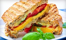 $8 for a Panini, Small Garden Salad &amp; Regular Drink at Sertinos Cafe
