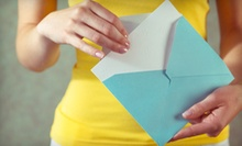 $30 for Customized Stationery with 8 Thank-You Notes at Paper Delights